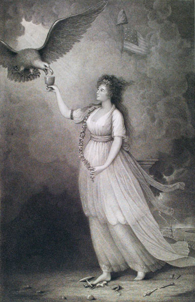Liberty in the Form of the Goddess of Youth: Giving Support to the Bald Eagle, 1796
