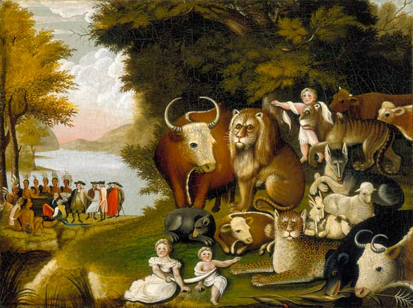 The Peaceable Kingdom, about 1833