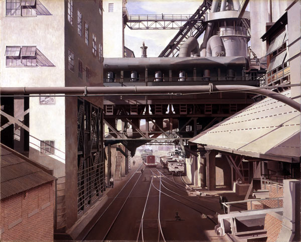 Ford River Rouge Plant >> Charles Sheeler: City Interior | Worcester Art Museum