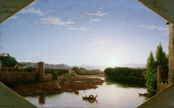 View of the Arno, near Florence, 1837