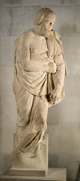 Grave Stele: Old Man</I>, late 4th century B.C.