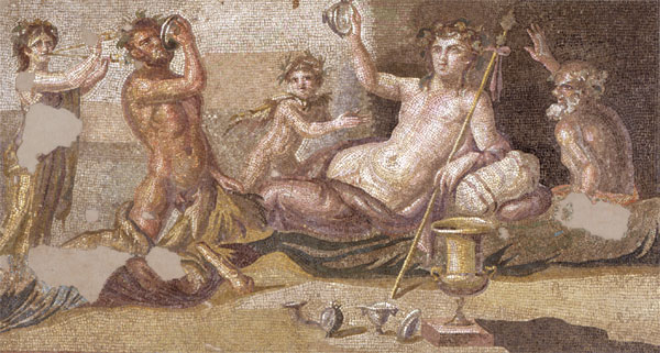 The Drinking Contest of Dionysos and Heracles Detail