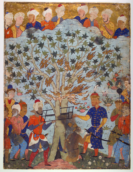 The Prophet Zakariya in the Tree