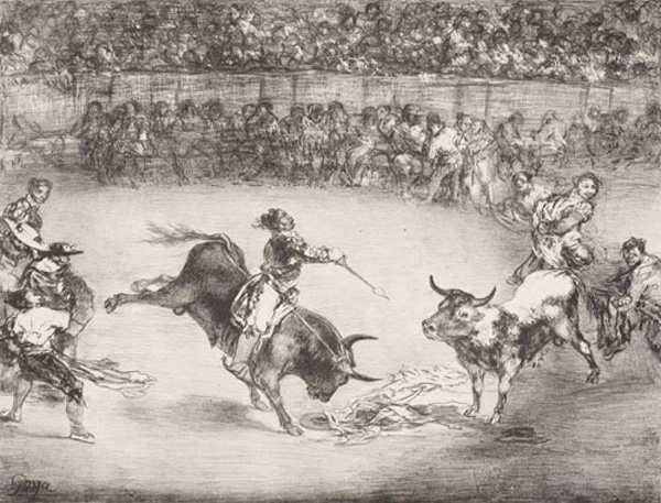 FRANCISCO JOSÉ DE GOYA Y LUCIENTES, The Celebrated American, Mariano Ceballos from the series The Bulls of Bordeaux