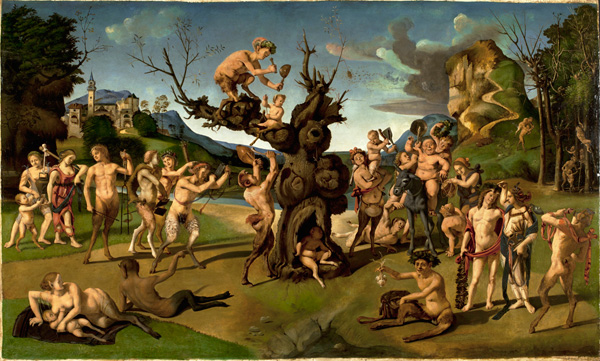 PIERO DI COSIMO, The Discovery of Honey by Bacchus