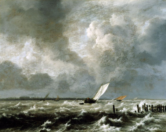 View on the IJ on a Stormy Day