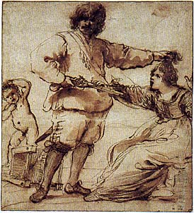 GUERCINO (GIOVANNI FRANCESCO BARBIERI), Domestic Conflict