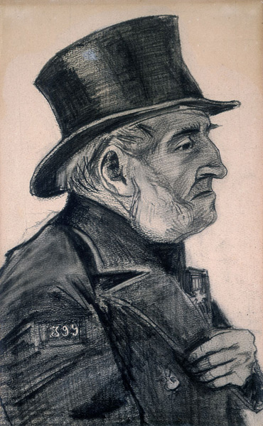 VINCENT VAN GOGH, Portrait of a Man in a Top Hat