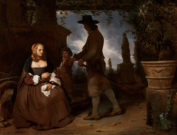 MICHAEL SWEERTS, A Young Couple and a Boy in a Garden
