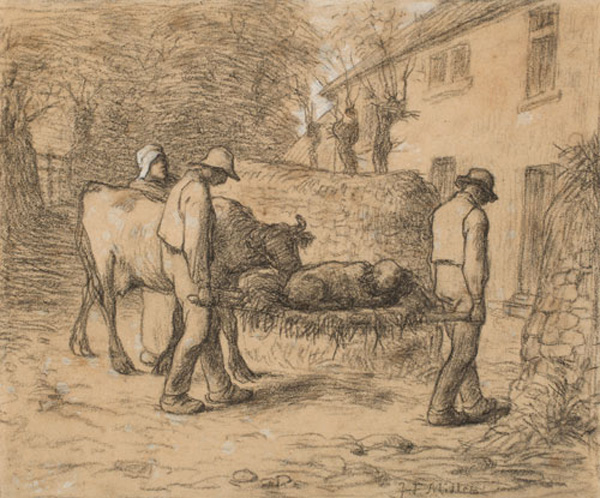 JEAN-FRANÇOIS MILLET, Bringing Home the Newborn Calf
