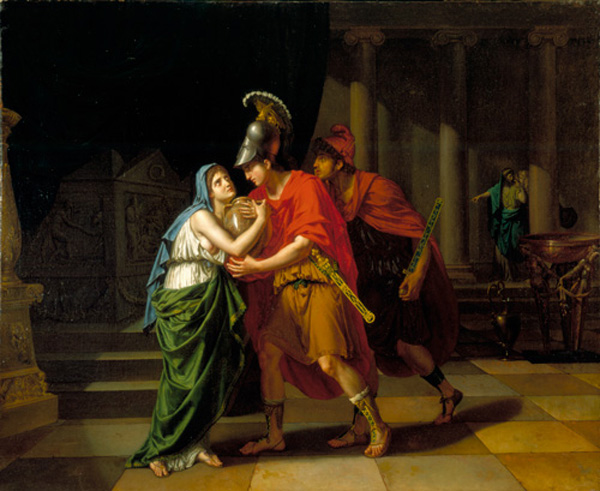 JEAN-BAPTISTE JOSEPH WICAR, Electra Receiving the Ashes of Her Brother, Orestes
