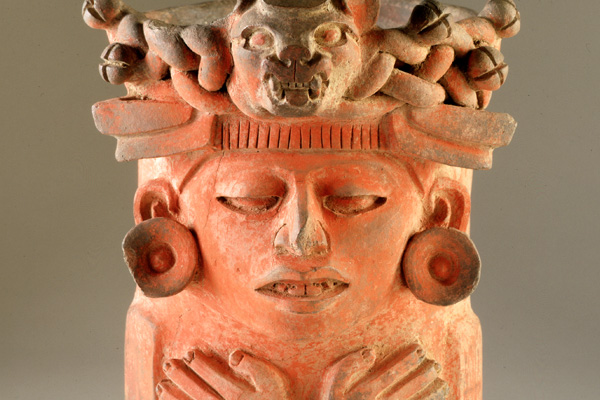 Precolumbian Urn with Human Figure