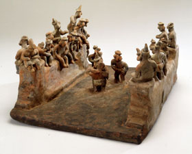 Precolumbian Model of a Ball game
