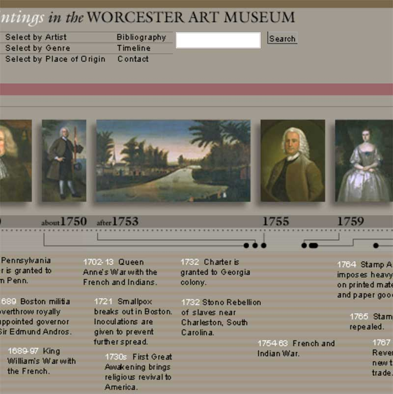 Early American paintings gallery screenshot