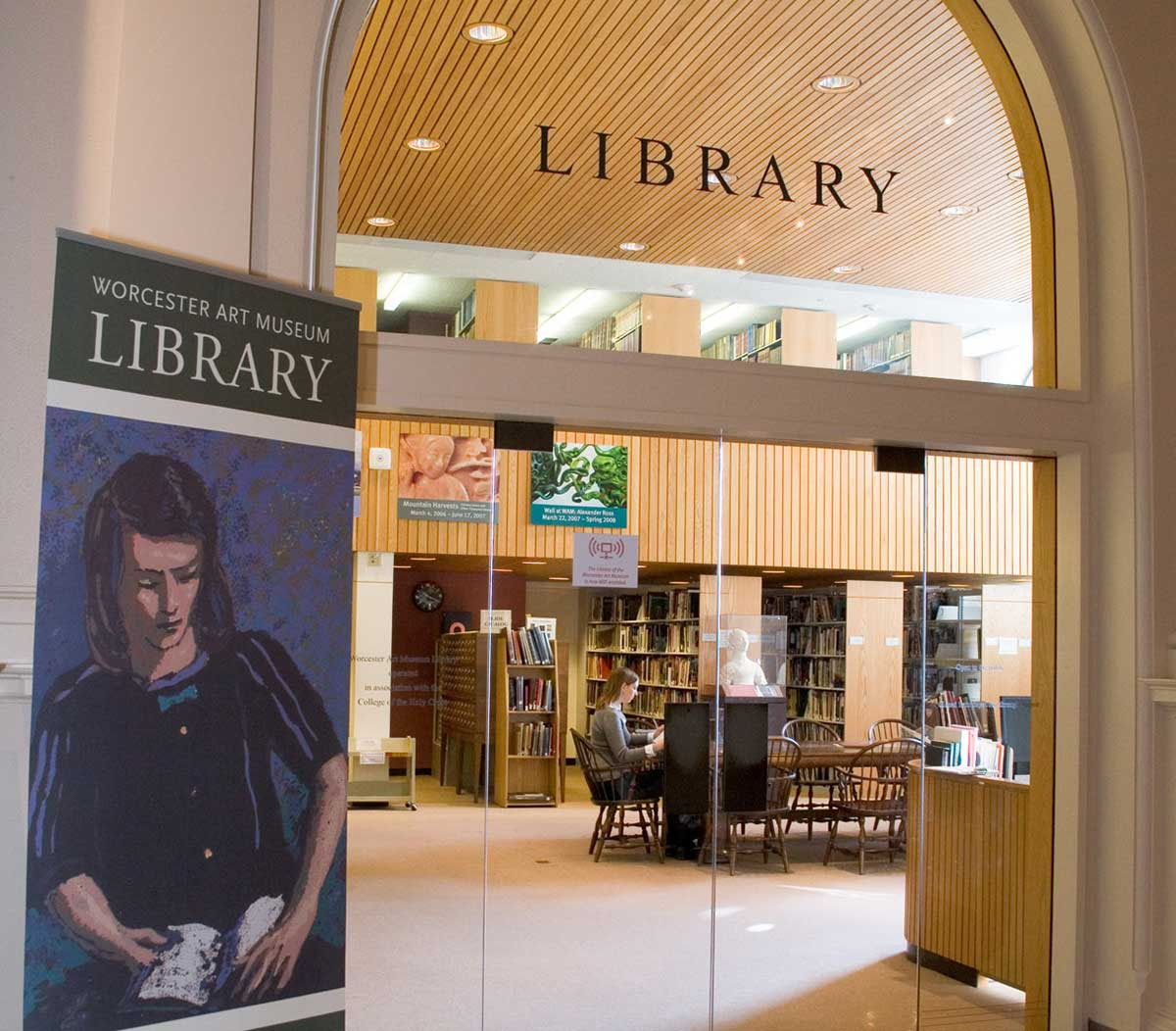The Museum library entrance