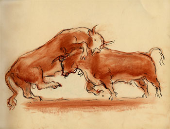 John Steuart Curry: Fighting Bulls