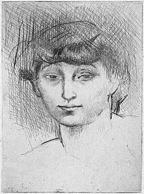 Pablo Picasso, Portrait of Fernande Olivier, 1906, Worcester Art Museum