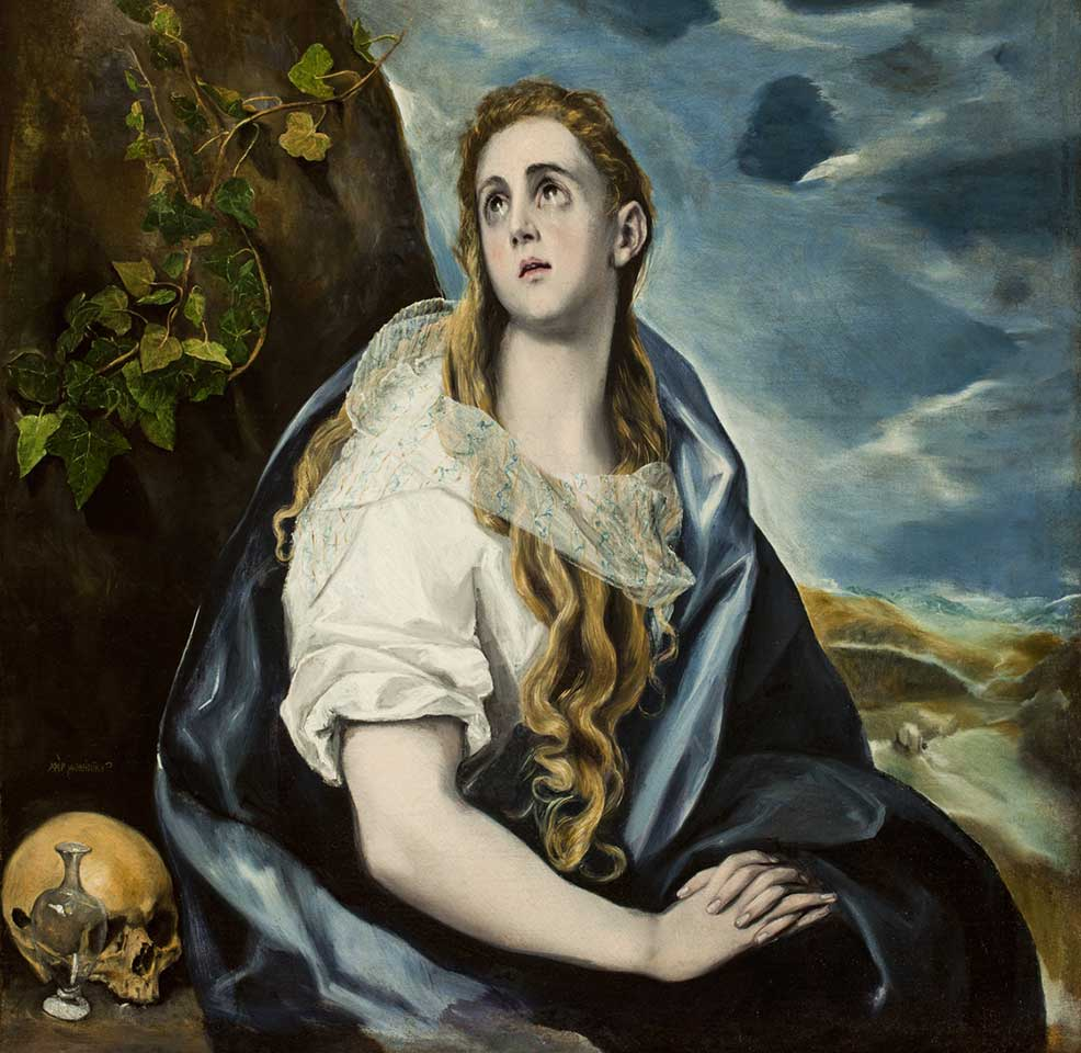 El Greco, 'The Repentant Magdalen', about 1577, oil on canvas
