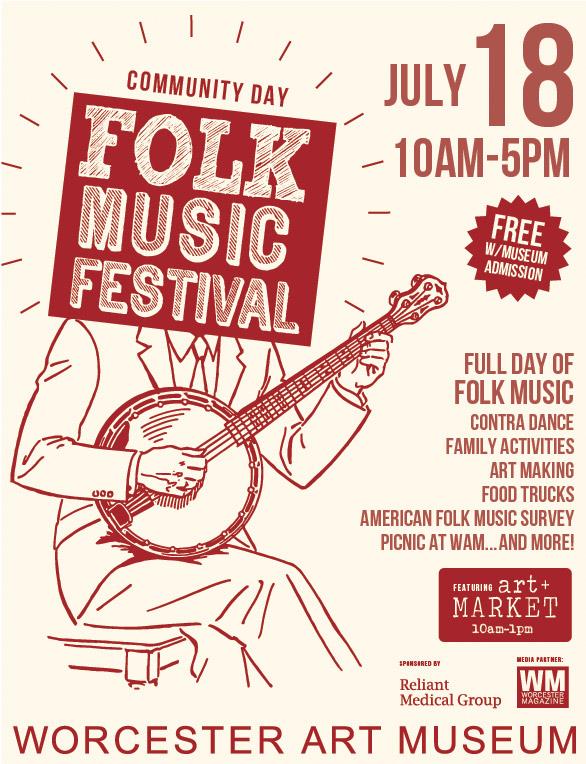 folk music festival posters worcester art museum   join us for folk