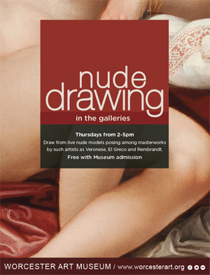 Nude models for drawing