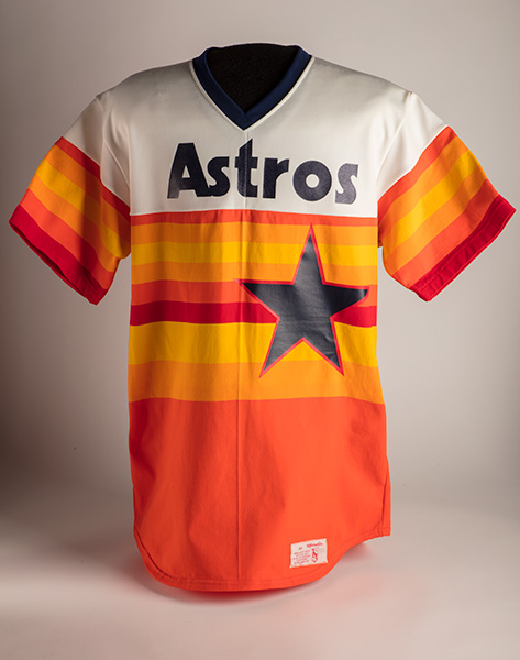 Manufactured by W.A. Goodman & Sons, Houston Astros Uniform Shirt, worn by Joe Niekro, 1983