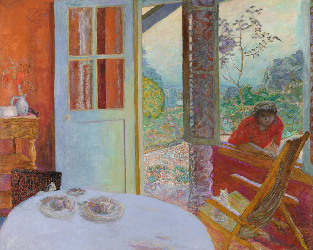 Worcester art museum pierre bonnard dining room in the for Dining room paintings