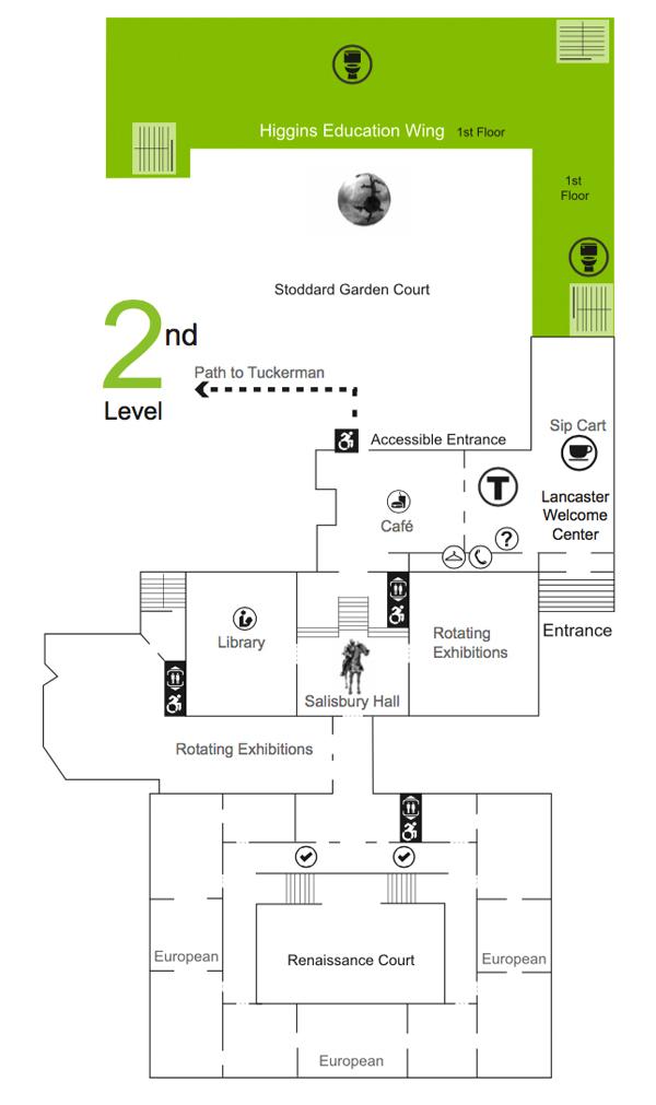 Floor Map Worcester Art Museum
